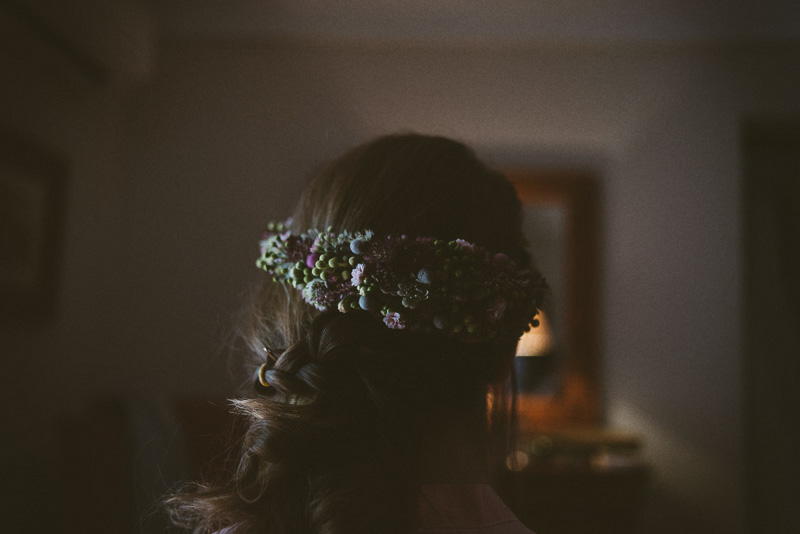 corona de boda natural novia