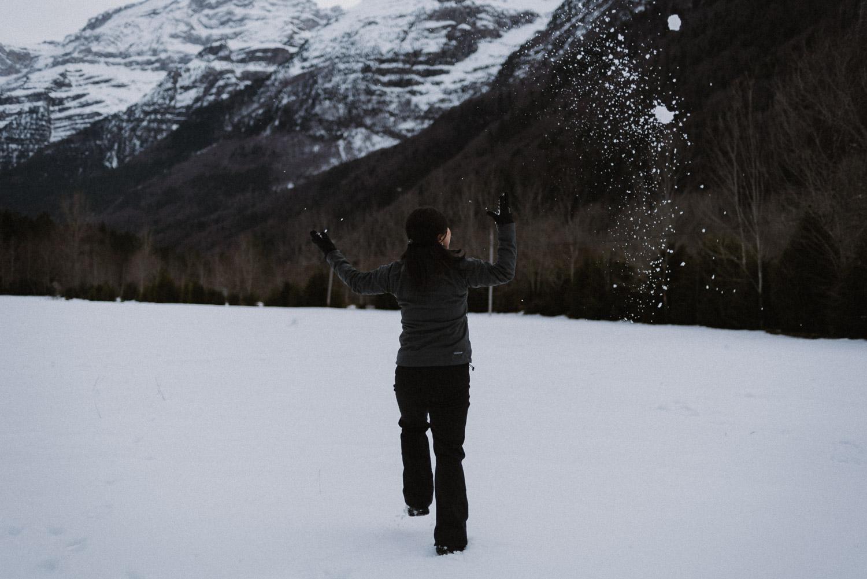 pineta nieve