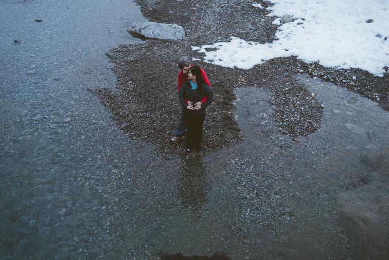 David Asensio preboda en la nieve