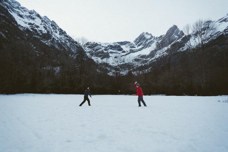 sesión en la nieve