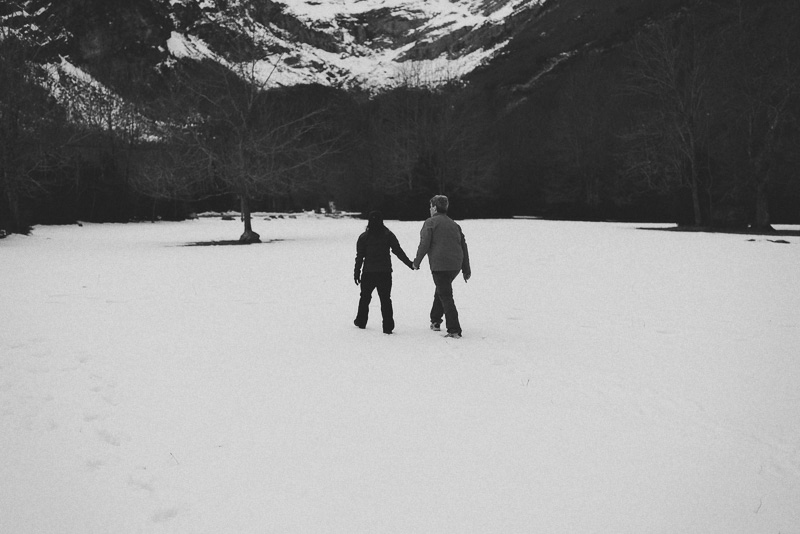 engagement snow mountain