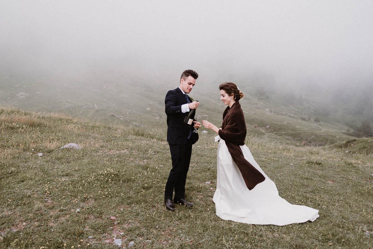 Fotos Pirineo Aragonés - pareja de casados